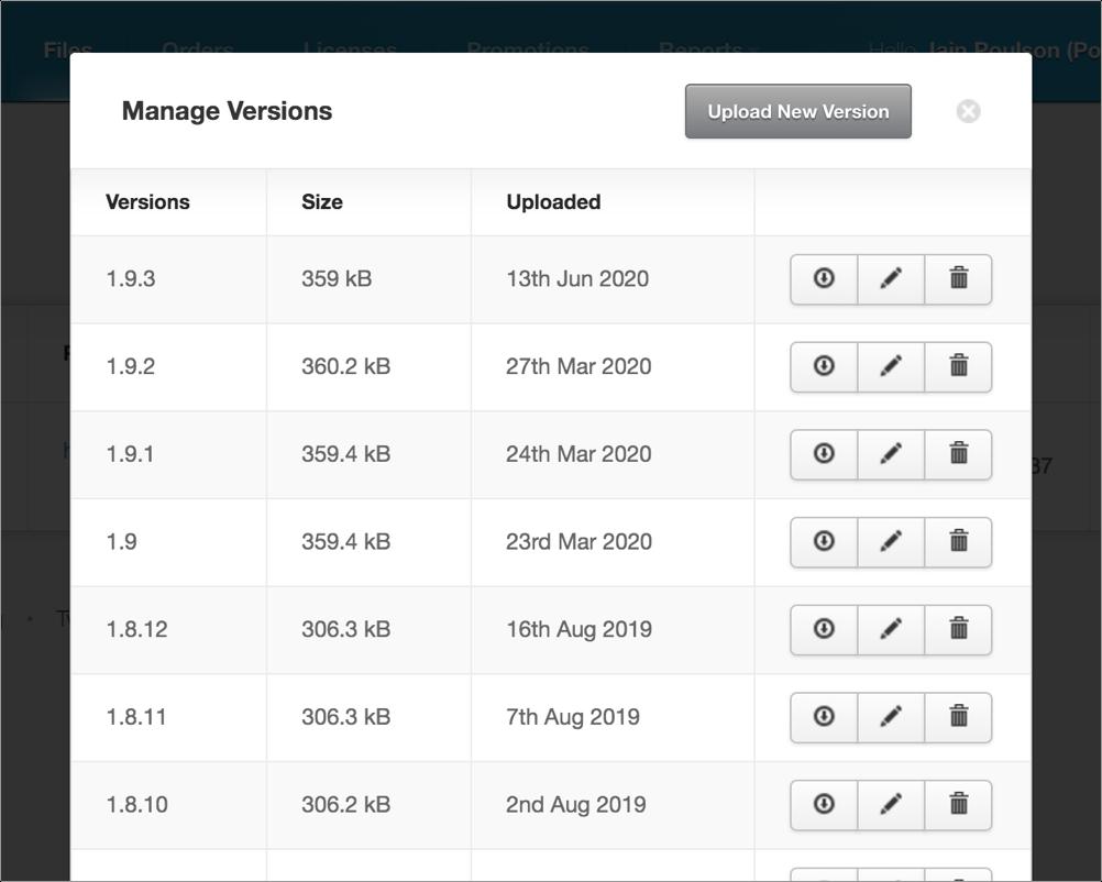 File management screenshot